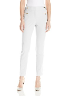 Calvin Klein Women's Straight Pant W/ Buckle and Zip