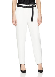 Calvin Klein Women's Straight Pant W/Belt
