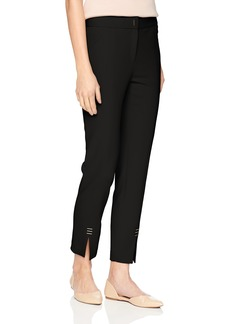 Calvin Klein Women's Straight Pant with Ankle Hardware