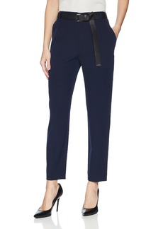 Calvin Klein Women's Straight Pant with Belt