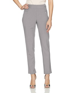 Calvin Klein Women's Straight Pant with Buckle and Zip
