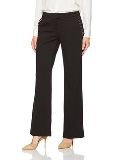 Calvin Klein Women's Straight Pant with Studded Pockets