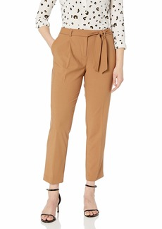Calvin Klein Women's Straight Pant with TIE Belt vicuna