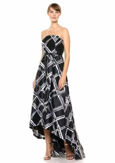 Calvin Klein Women's Strapeless Ball Gown with High Low Hem Dress