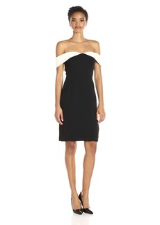 Calvin Klein Women's Strapless Color Block Cocktail Dress