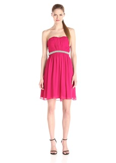 Calvin Klein Women's Strapless Fit and Flare Dress With Ruched Bodice