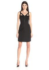 Calvin Klein Women's Strapy Zip Front Sheath Dress