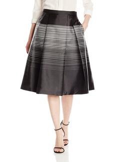 Calvin Klein Women's Stripe Flare Skirt