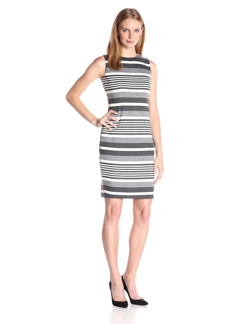 Calvin Klein Women's Stripe Sheath Dress