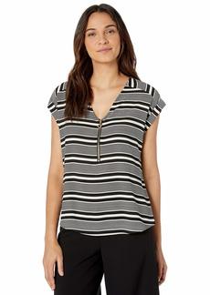Calvin Klein Women's Stripe Short Sleeve Top