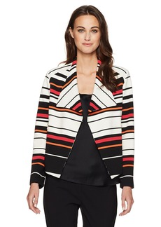 Calvin Klein Women's Striped Flyaway Jacket  L