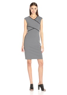 Calvin Klein Women's Striped Panel Dress