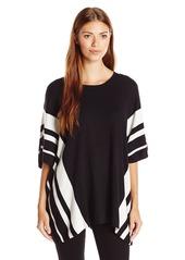 Calvin Klein Women's Striped Poncho  Large/X-Large