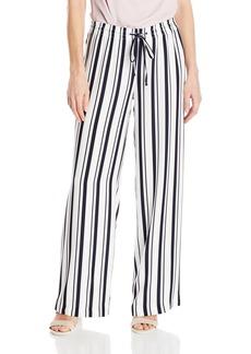 Calvin Klein Women's Striped Wide Leg Pant  M