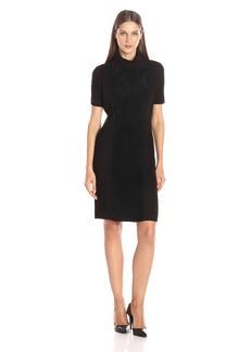 Calvin Klein Women's Suede Front Turtleneck Dress  S