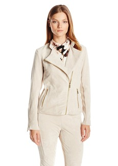 Calvin Klein Women's Suede Moto Jacket