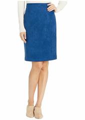 Calvin Klein Women's Suede Straight Skirt