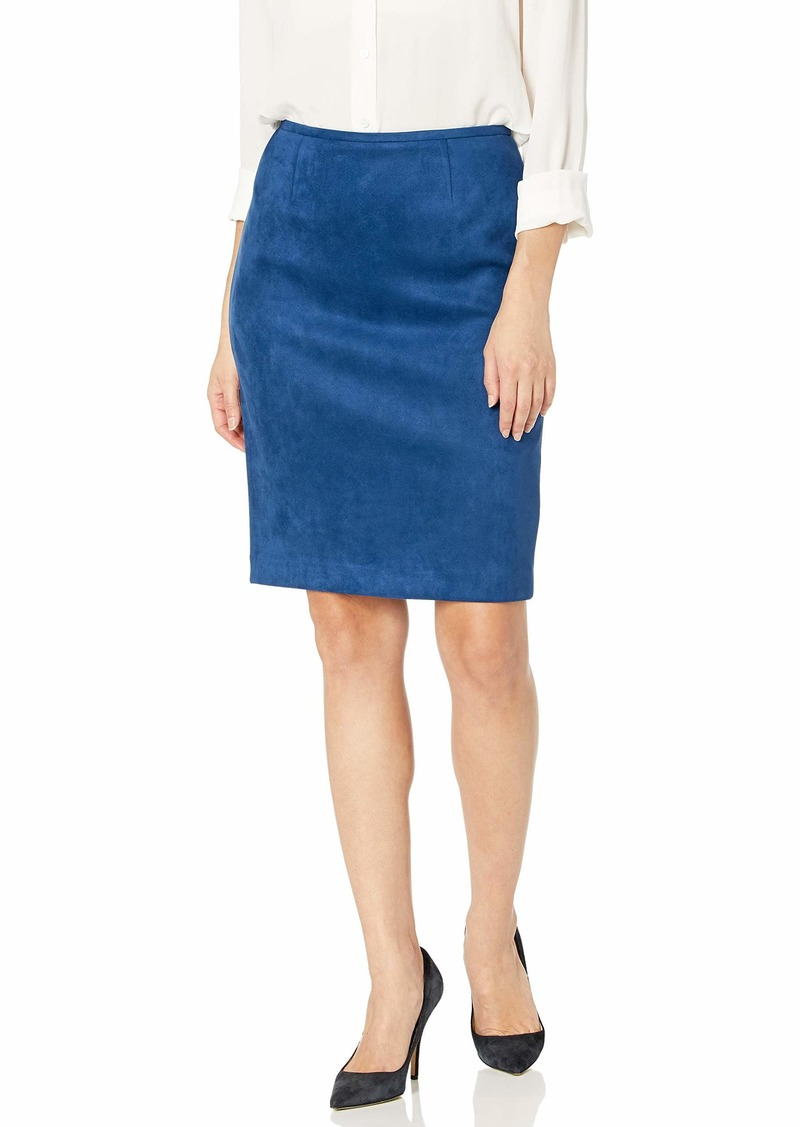 Calvin Klein Women's Suede Straight Skirt