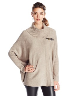 Calvin Klein Women's Sweater Cape with Buckle  /X-
