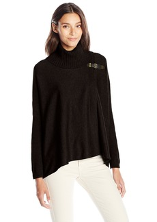 Calvin Klein Women's Sweater Cape With Buckle  Large/