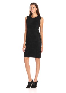 Calvin Klein Women's Sweater Dress W/ Suade Front