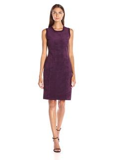 Calvin Klein Women's Sweater Dress W/ Suade Front
