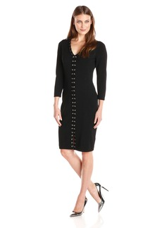 Calvin Klein Women's Sweater Dress with Center Lacing  S