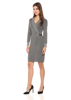 Calvin Klein Women's Sweater Dress with Folded Collar  M
