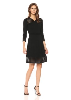 Calvin Klein Women's Sweater Dress with Illusion Hem  S
