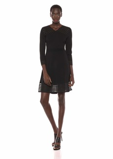 Calvin Klein Women's Sweater Dress with Illusion Hem  XL