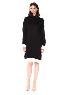 Calvin Klein Women's Sweater Dress With Shirting  L