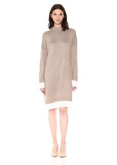 Calvin Klein Women's Sweater Dress with Shirting  XL