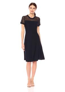 Calvin Klein Women's Sweater Dress with Textured Sleeve  XL