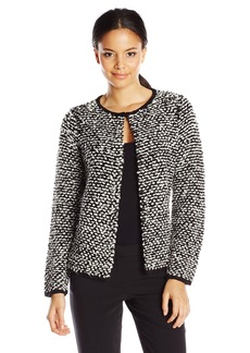 Calvin Klein Women's Sweater Jacket with Pin Closure