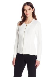 Calvin Klein Women's Sweater Jacket with Square Detail  M
