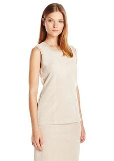 Calvin Klein Women's Sweater Shell W/ Suade