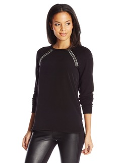 Calvin Klein Women's Sweater with Shoulder Jewels