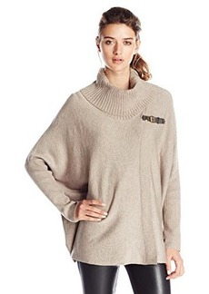 Calvin Klein Women's Sweater Cape with Buckle  Small/Medium