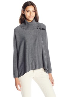 Calvin Klein Women's Sweatr Cape W/Buckle  Small/Medium