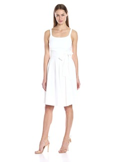 Calvin Klein Women's Tank Dress W/Bow Belt