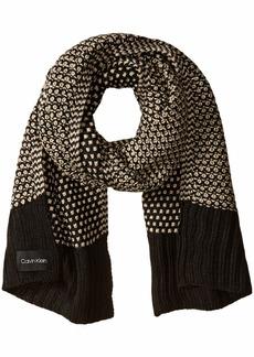 Calvin Klein Women's Textured Lurex Scarf  O/S