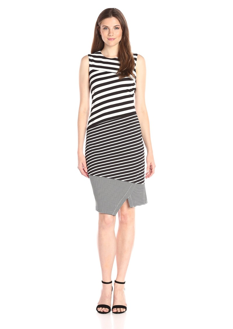 Calvin Klein Women's Textured Mix Stripe Dress