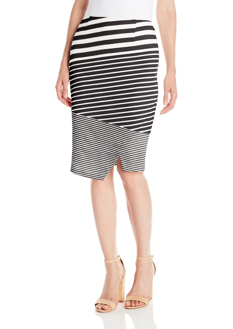 Calvin Klein Women's Textured Mix Stripe Skirt