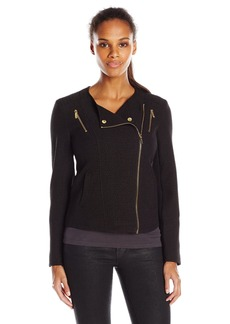 Calvin Klein Women's Textured Moto Jacket