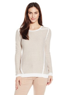 Calvin Klein Women's Textured Sweater with Trim