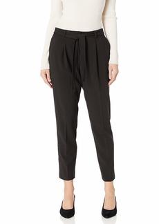 Calvin Klein Women's TIE Belt Pleated Pant black