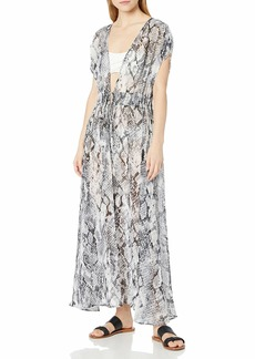 Calvin Klein Women's Tie Front Maxi Cover Up