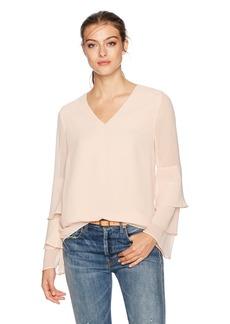 Calvin Klein Women's Tier Ruffle Sleeve Blouse  XS