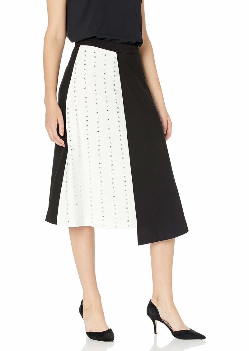 Calvin Klein Women's 2 Toned Skirt with Studs