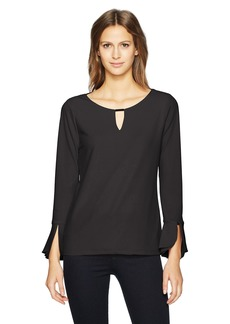 Calvin Klein Women's Triple Flare Sleeve With Bar  XS
